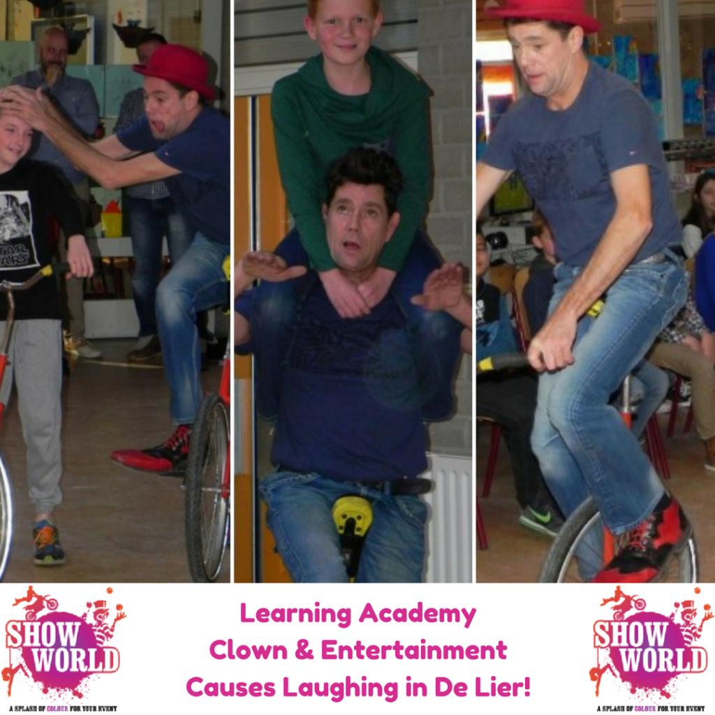 Learning Academy Clown & Entertainment Causes Laughing in De Lier